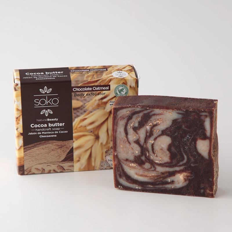 カカオバター ナチュラル石けん 110g チョコレート&オートミール