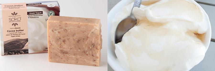 SOKO カカオバター ナチュラル石けん 110g ギリシャヨーグルト